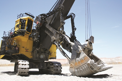 Joy Global's 2650CX hybrid excavator. Copyright: The Intelligent Miner