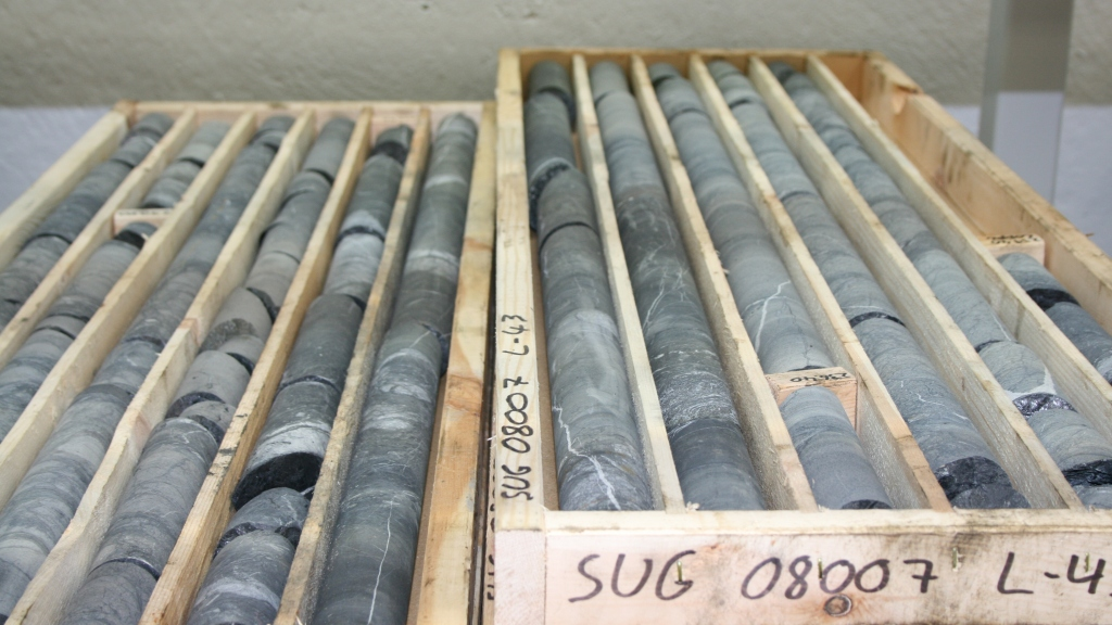 Diamond drill cores from Agnico Eagle's Kittila gold mine in Finland. Copyright: The Intelligent Miner