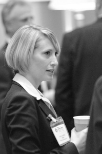 Carly networking at MINExpo 2012