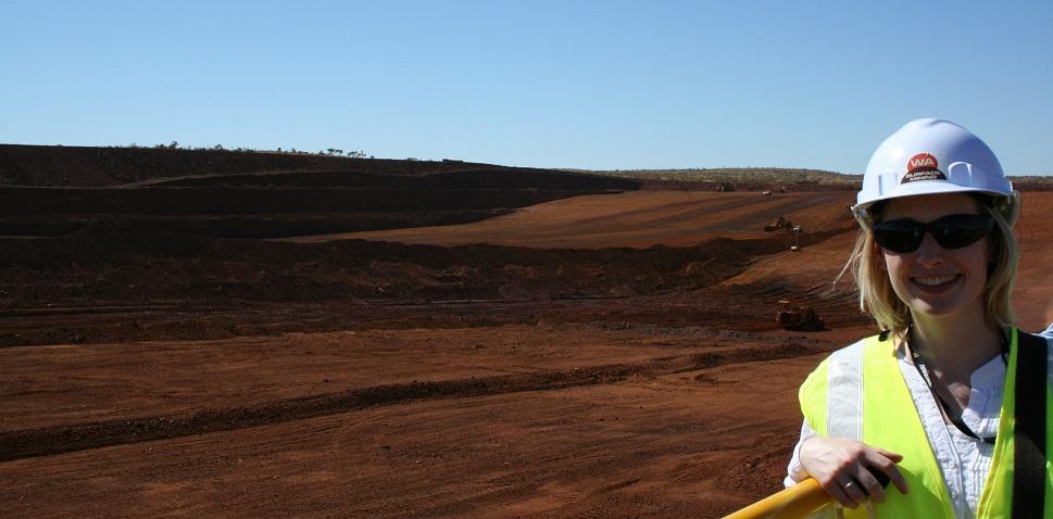 Carly at Christmas Creek mine in Western Australia