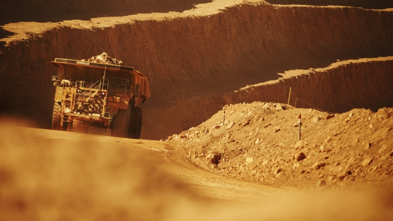 A mining truck at BHP's Spence operation. Copyright: BHP