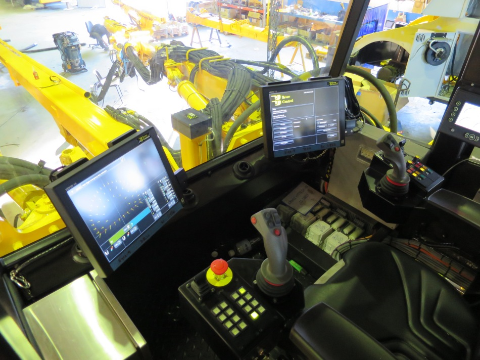 JLT computers in an underground drill rig. Image: Bever Control