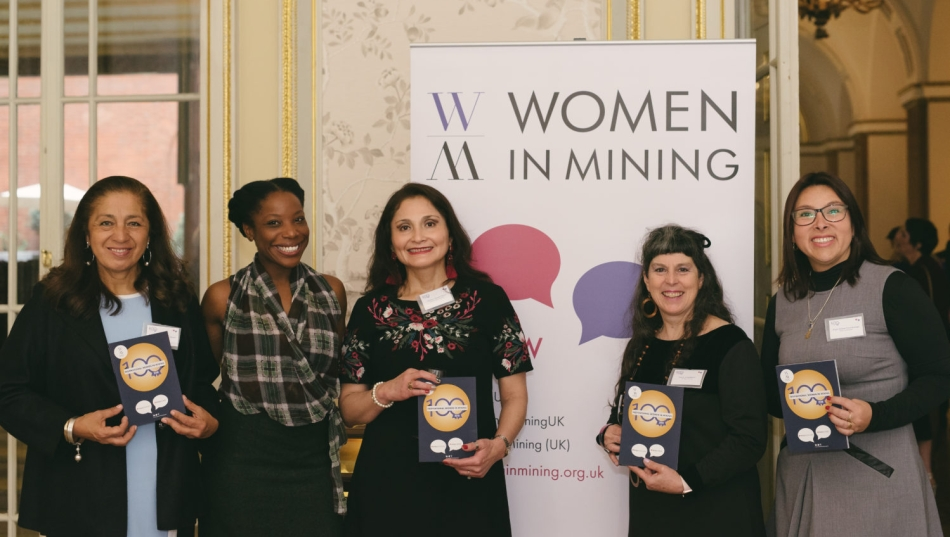 Standing together: a few of the 2018 WIM100 pose with the print publication. Photo: Charlotte Knee Photography