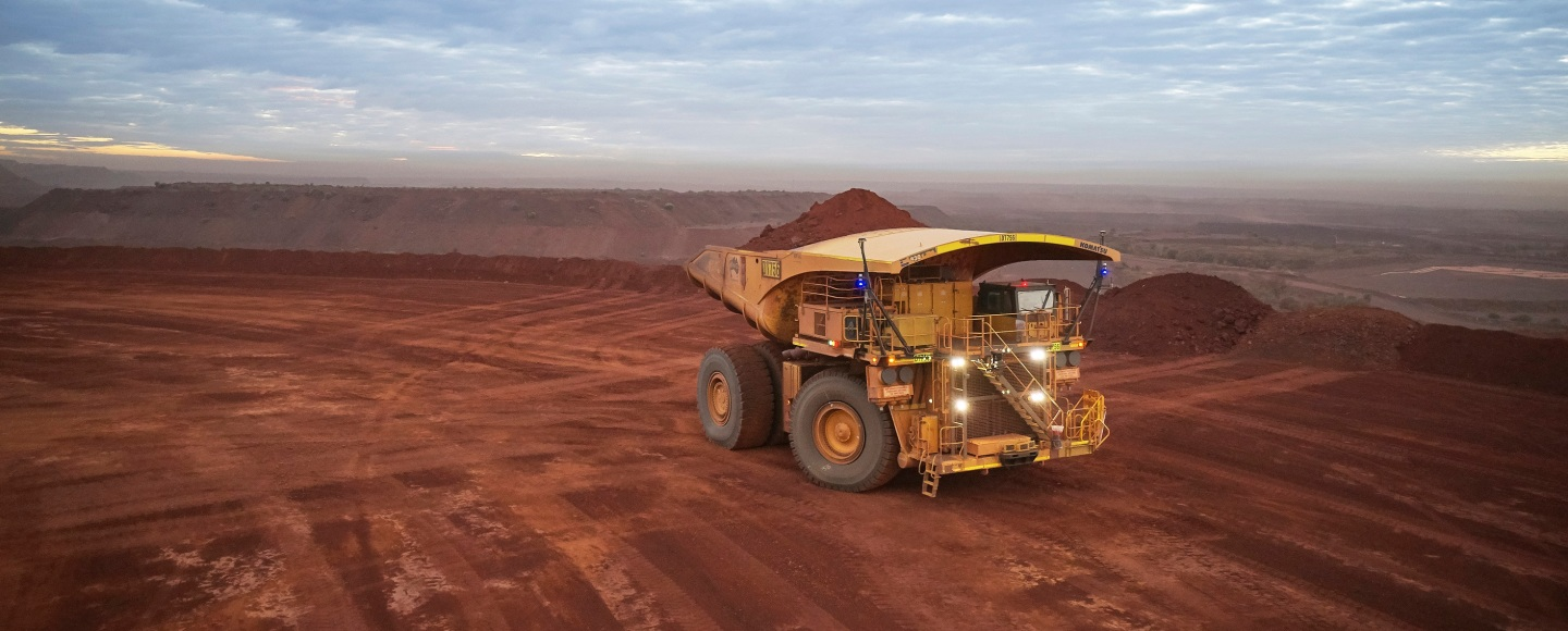 An autonomous haul truck at FMG's operations in the Pilbara, Australia. Image: Fortescue Metals Group