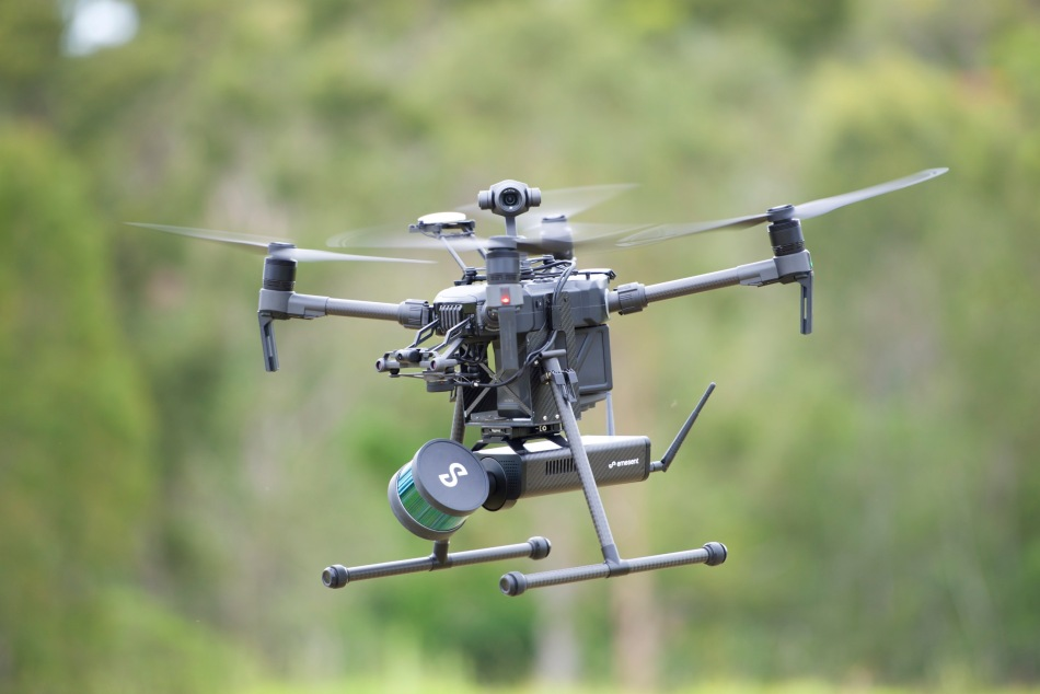 Emesent's Hovermap technology can be mounted on a drone or a mine vehicle. Image: Emesent