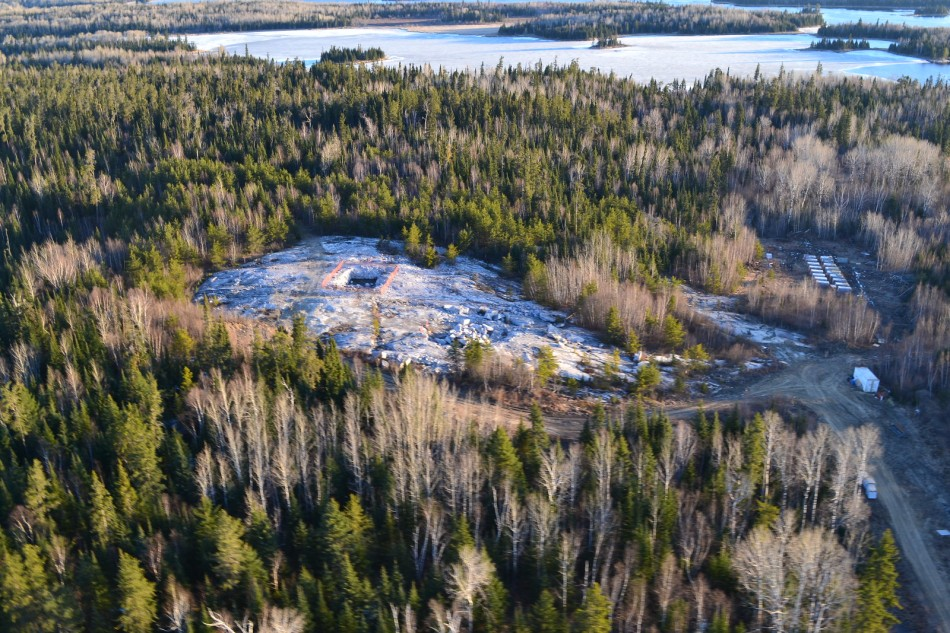 A birds eye iamge of Avalon's Separation Rapids project in Kenora, Ontario. Image: Avalon Advanced Materials