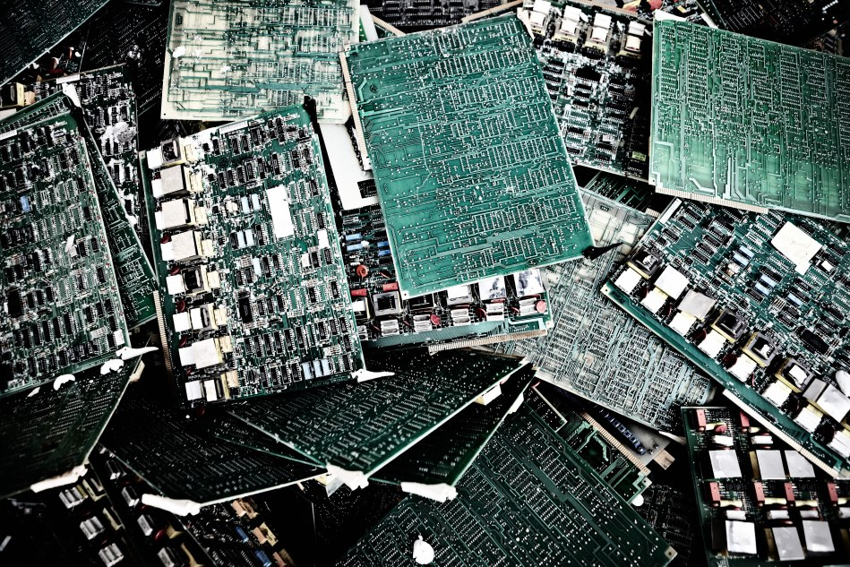 Computer chips await recycling. Image: Boliden/Stefan Berg