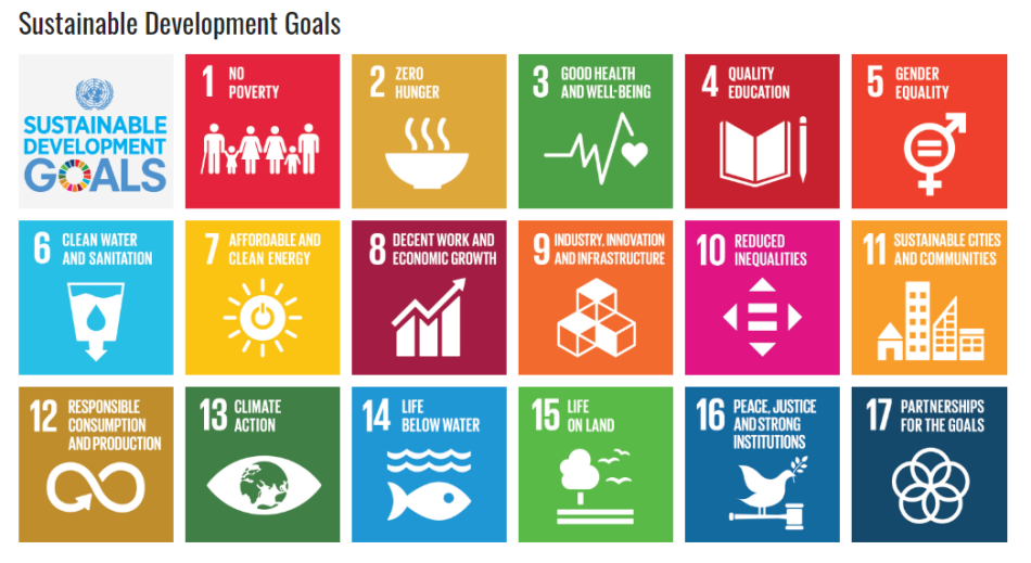 The 17 UN Sustainable Development Goals. Image: United Nations