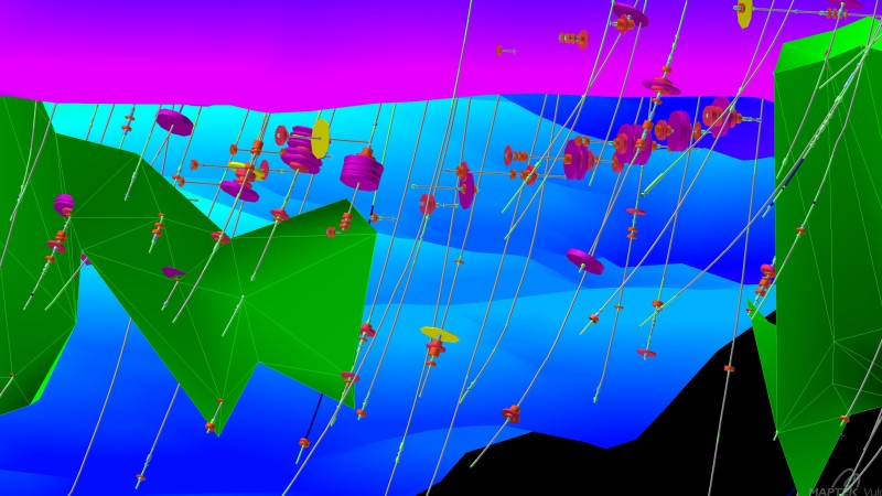 A screenshot from one of Maptek's mining software programmes. Image: Maptek